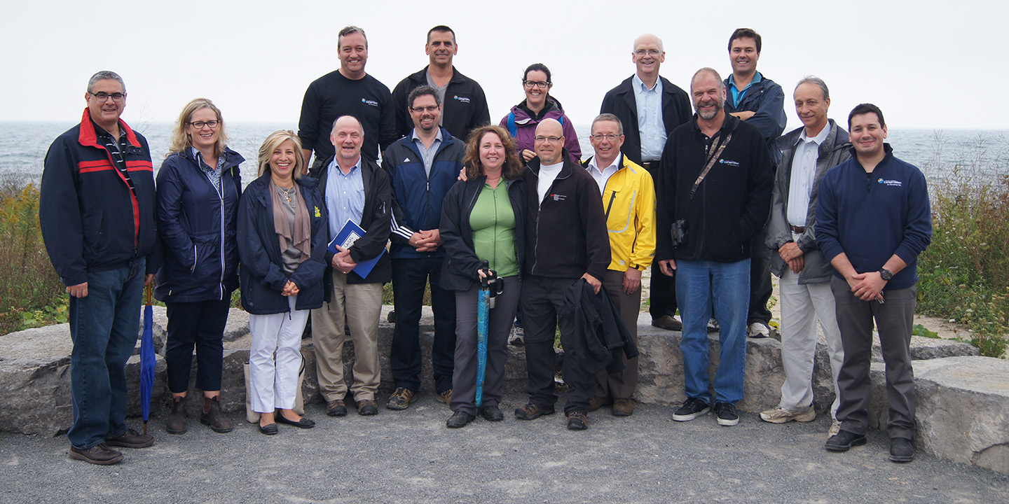 members of the Aquatic Habitat Toronto executive pose for a photograph