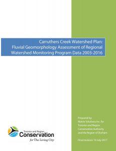 CCWP Fluvial Geomorphology Matrix 2017 Final