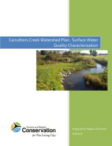 Carruthers Creek Watershed Plan 2017 Water Quality