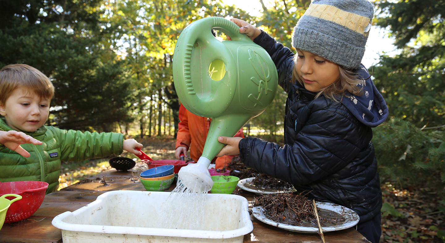 students participate in Early Years Forest School at Kortright Centre