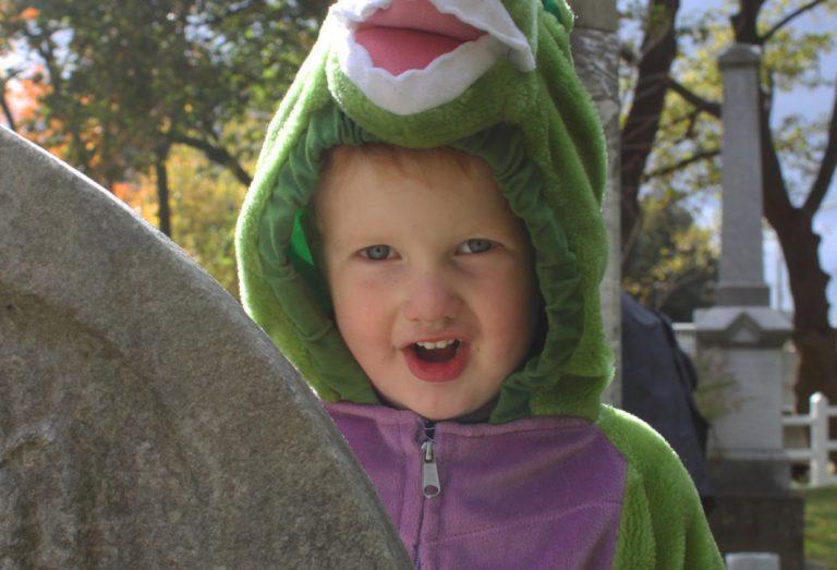 In Halloween costume