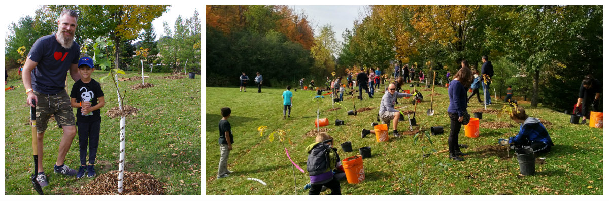 West Bolton SNAP community members at tree planting event