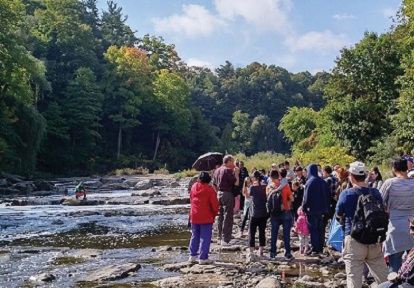 Community members attend Highland Creek salmon festival