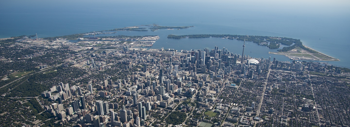 aerial view of Lake Ontario waterfront