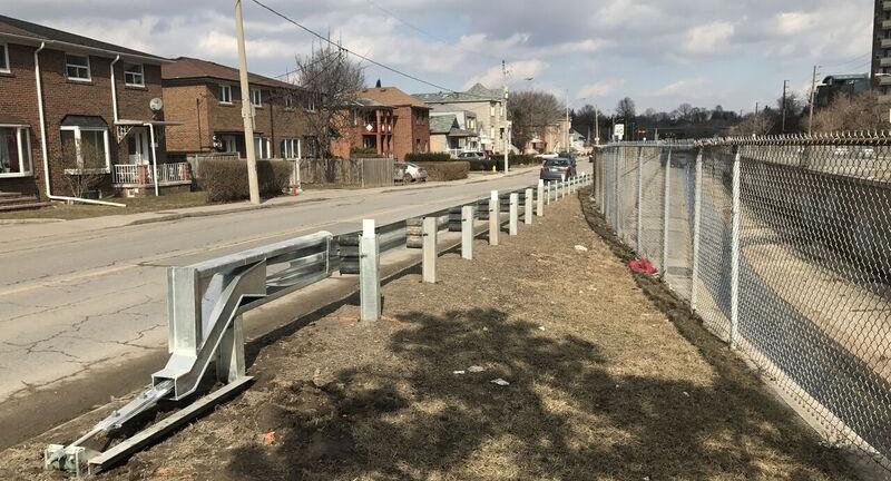 Black Creek flood control channel guardrail
