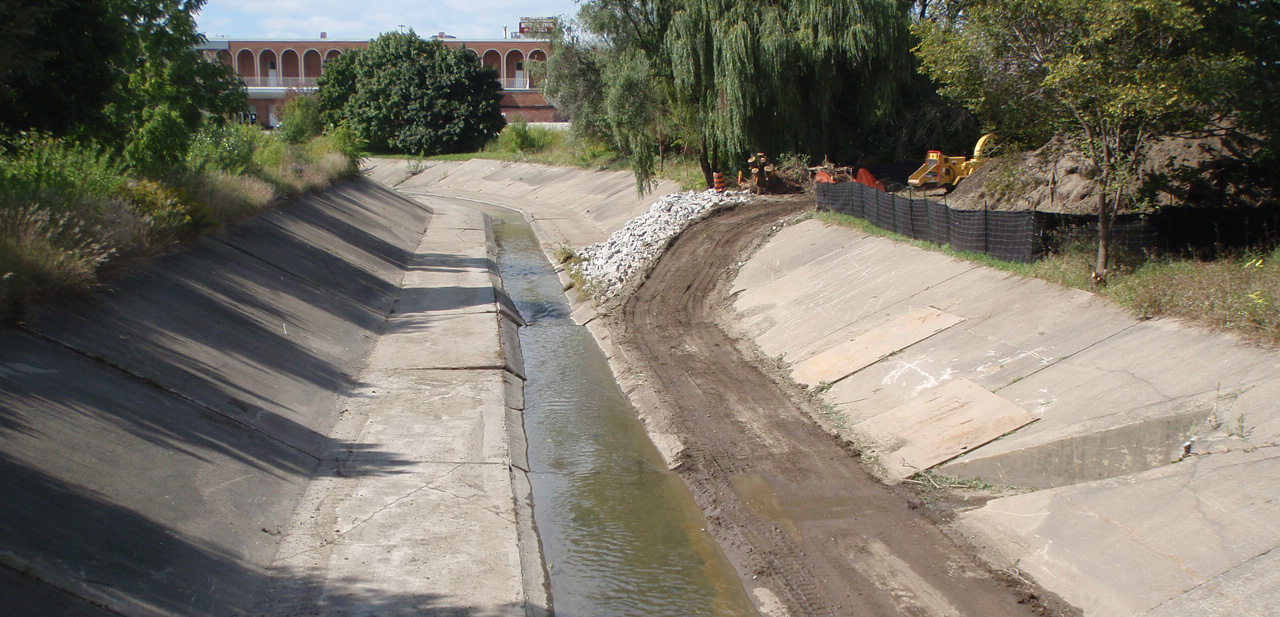 Black Creek flood control channel after 2014 dredging