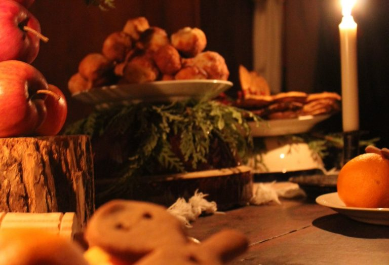 Christmas table spread at Black Creek Pioneer Village
