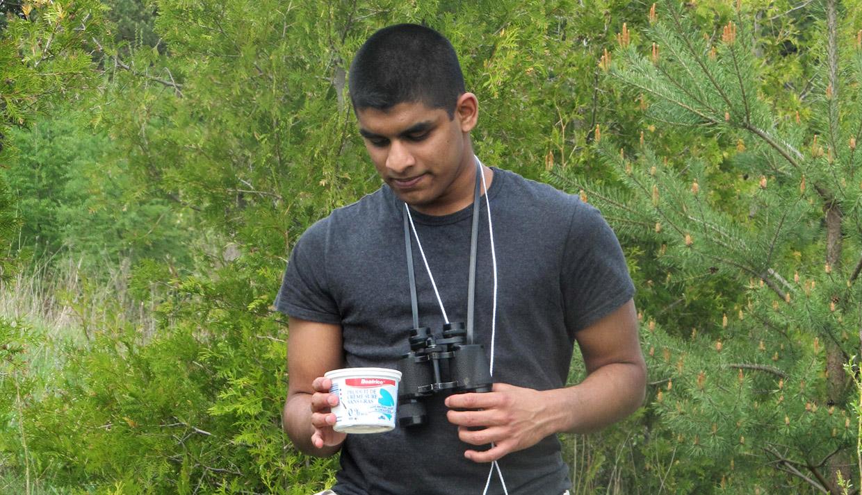 student takes part in environmental training program
