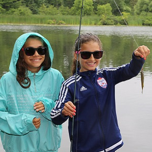 girls fishing at Heart Lake Conservation Area