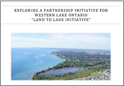 cover page of Land to Lake report