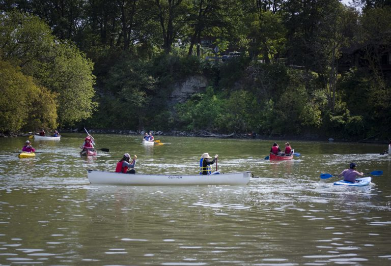 Canoes on Humber River