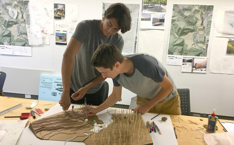 Indigenous youth work on model of Bolton Camp design