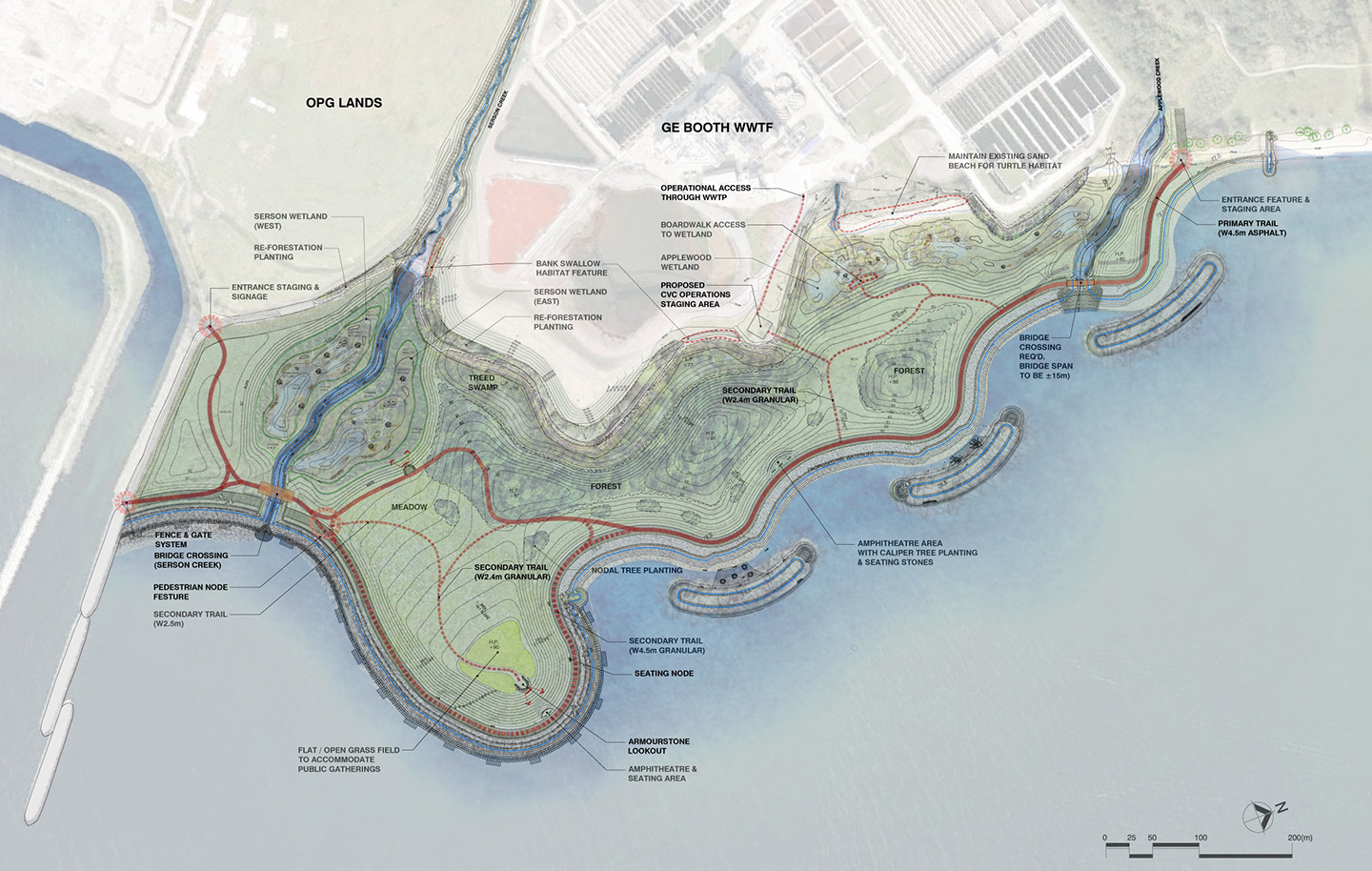 map of Lakeview Waterfront Connection Project