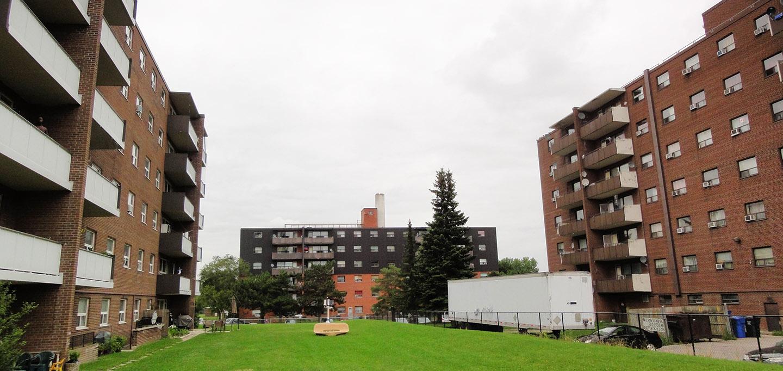 residential towers in Burnhamthorpe SNAP neighbourhood