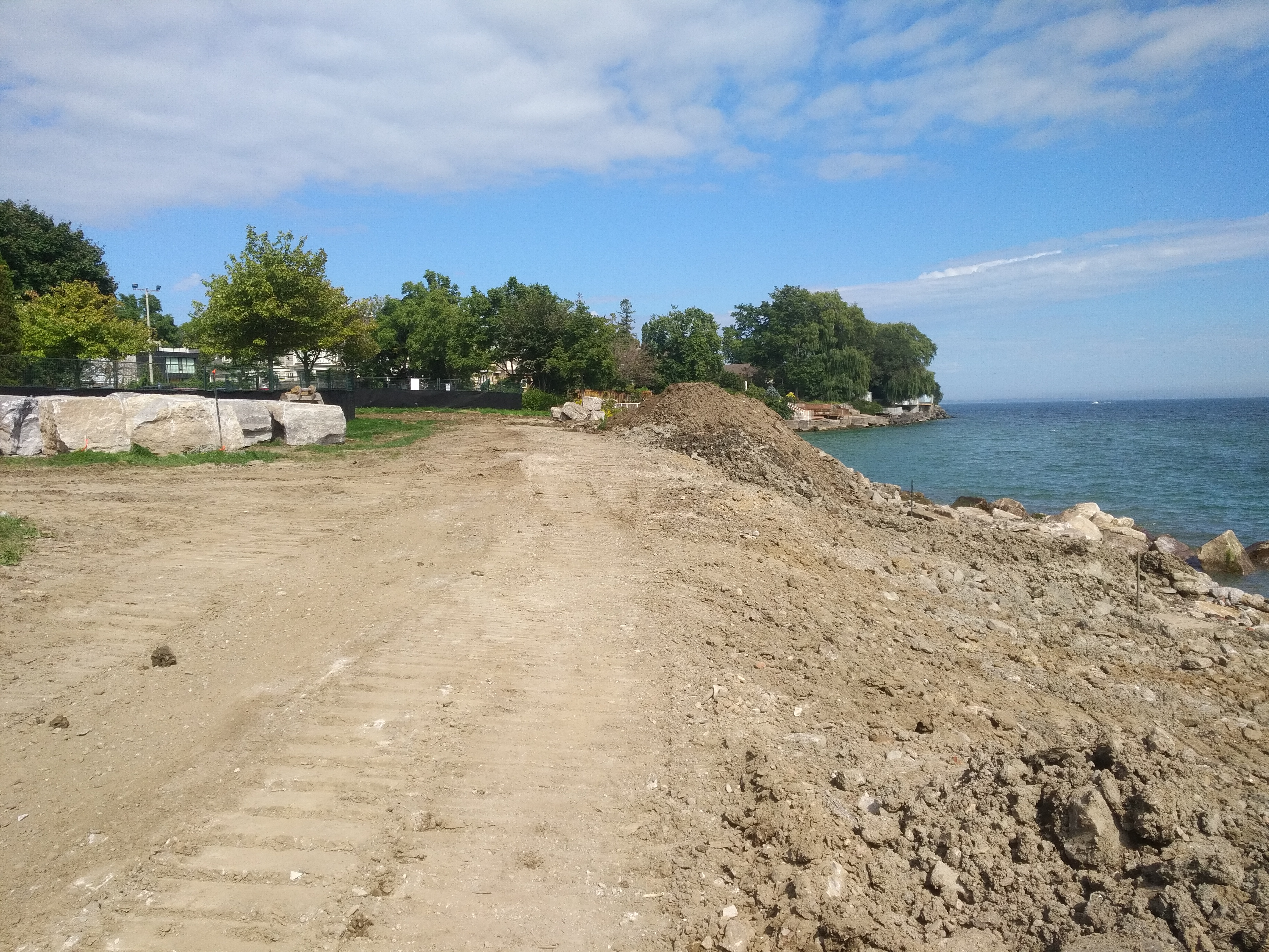 Continuing works at Rotary Peace Park. Source: TRCA, 2018