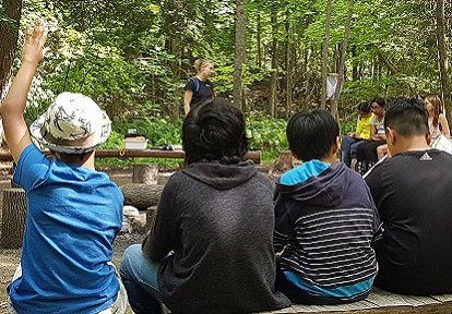 instructor leads class at Albion Hills Field Centre