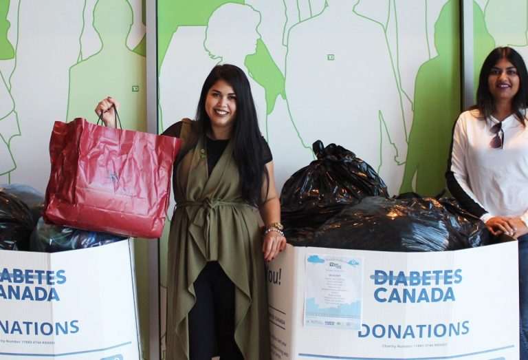 TD Canada employees participate in recycling collection drive