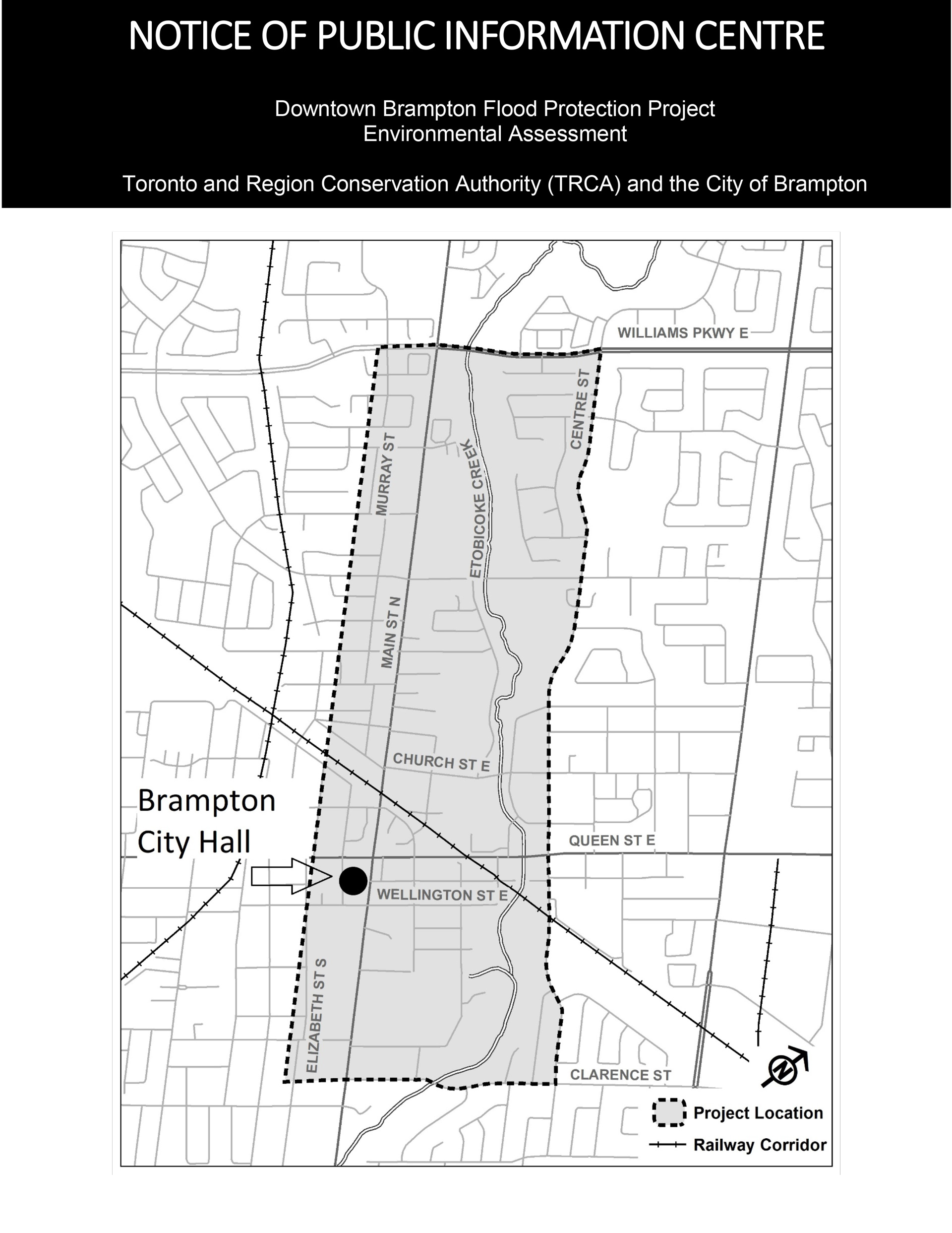 Page 2 notice - Public Information Centre: Downtown Brampton Flood Protection Project Environmental Assessment