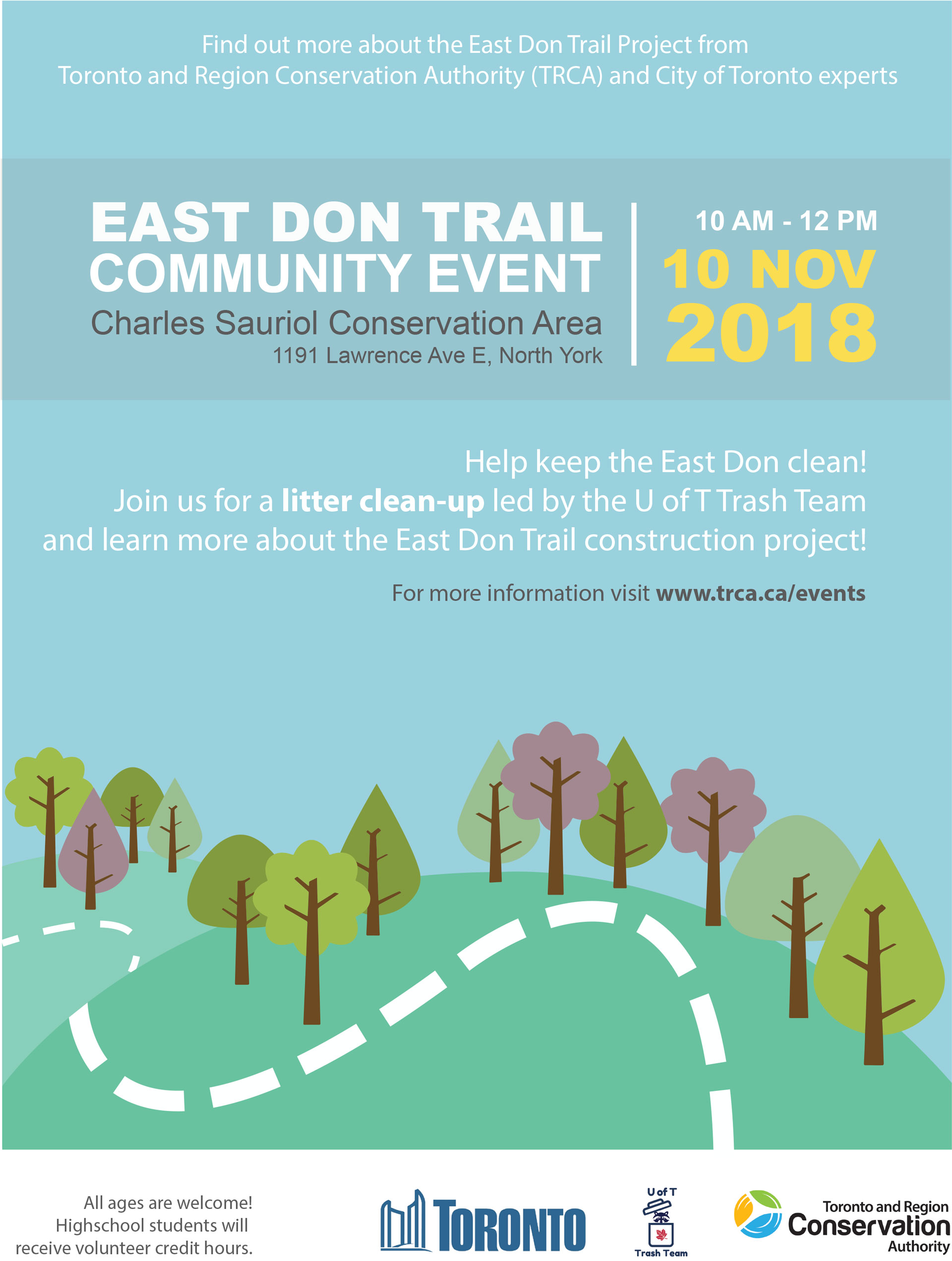 East Don Trail Community Event Poster