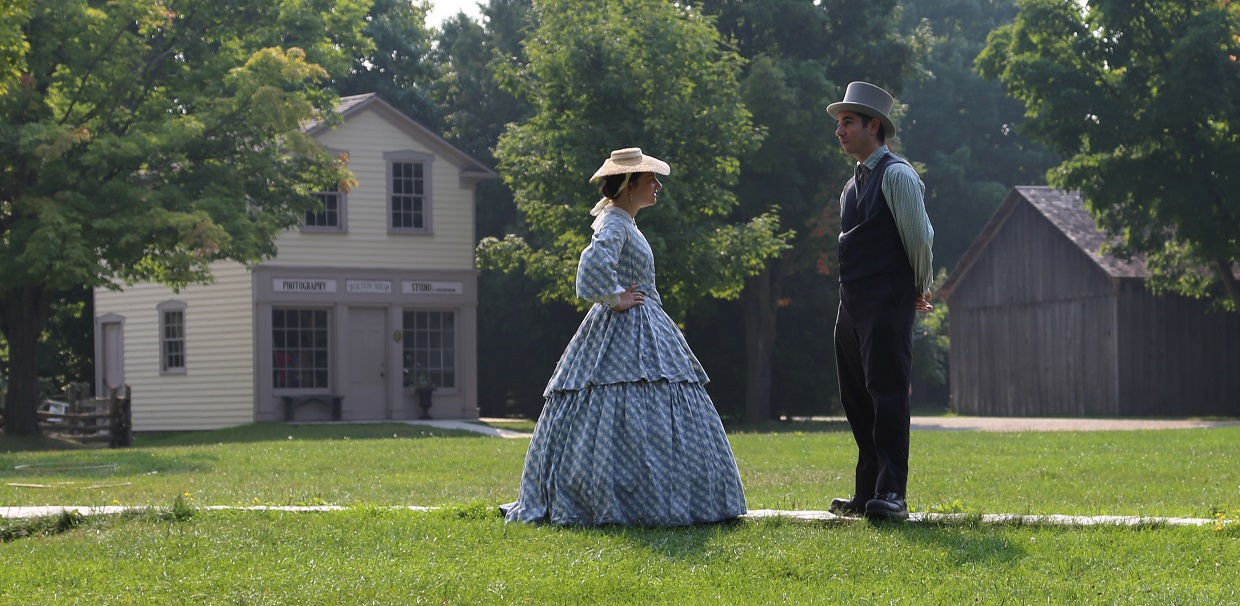 history actors in Victorian costume at Black Creek Pioneer Village