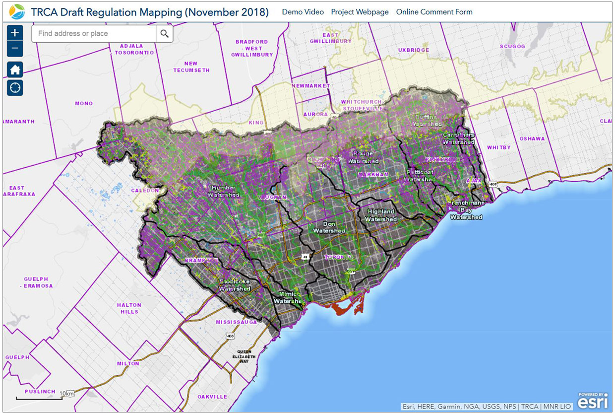 TRCA draft regulation mapping viewer