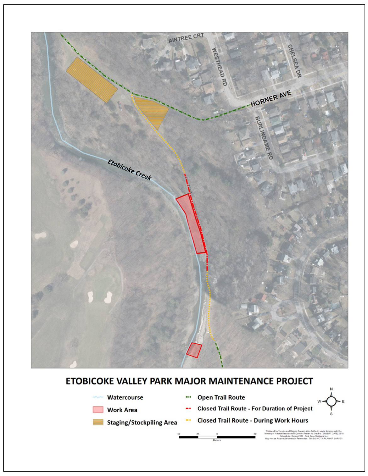 Etobicoke Valley Park Project information map
