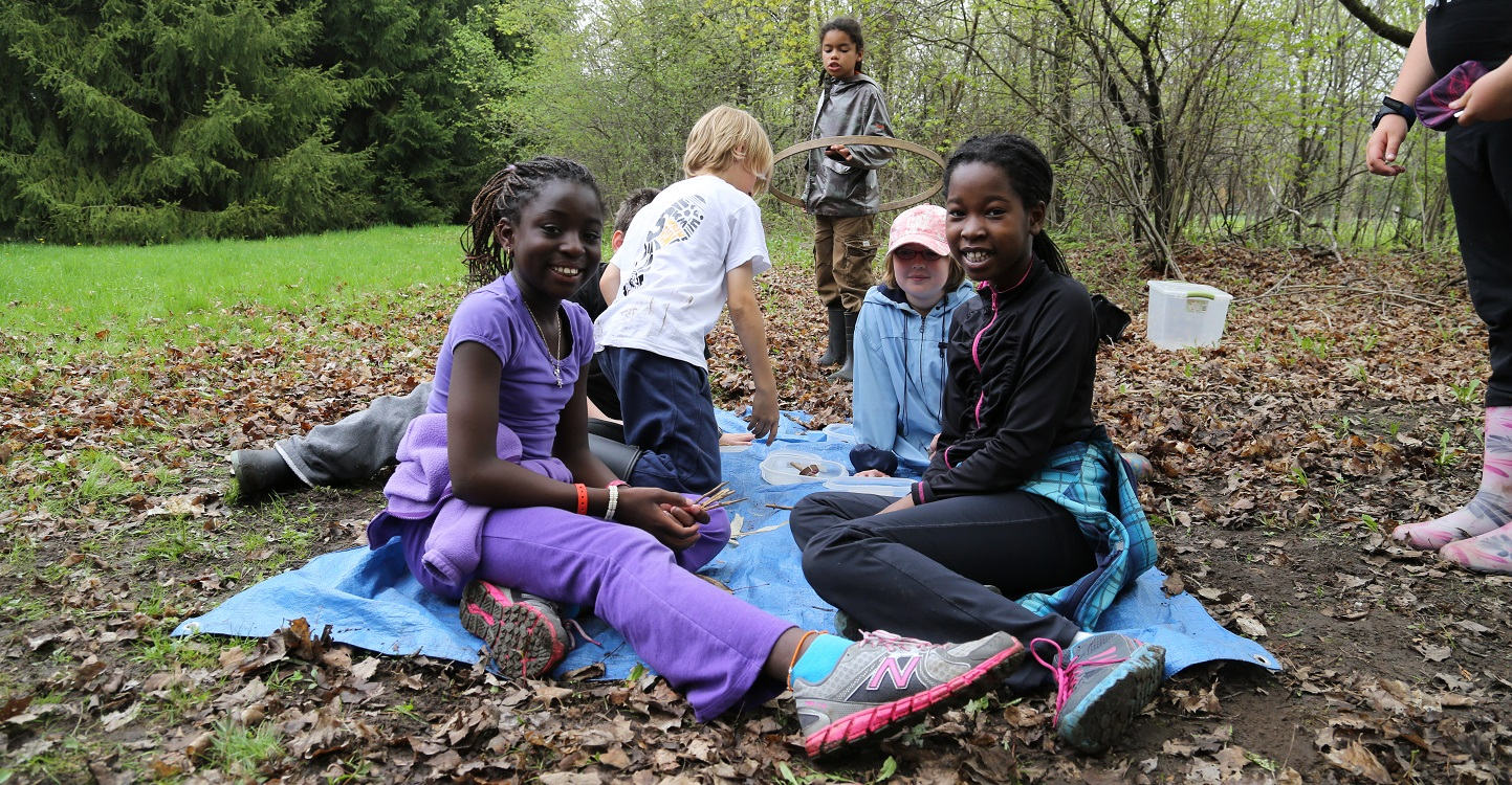 students on overnight field trip to TRCA nature education centre
