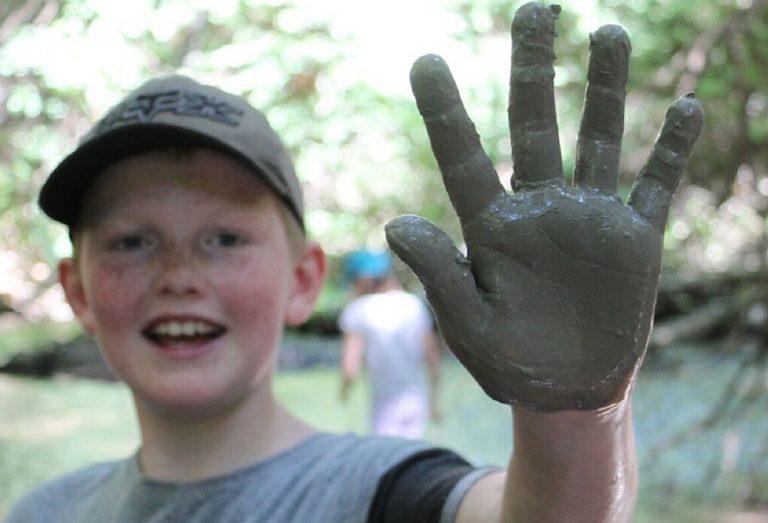 young boy enjoys Forest Explorers program at Claremont Nature Centre