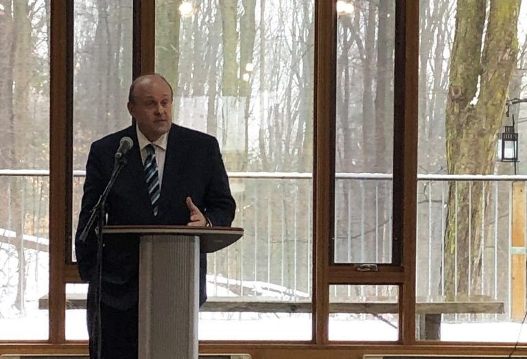 Hon. Michael Tibollo speaks at Kortright Centre