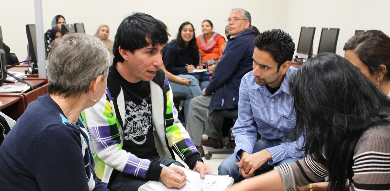students at language centre participate in Multicultural Connections Program