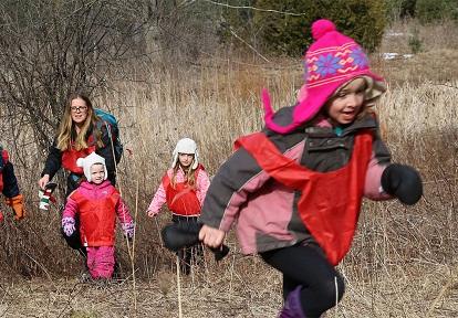 children enjoy March Break wilderness camp at Claremont Nature Centre