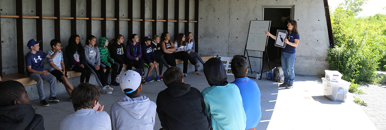 students take part in Animal Detective program at Tommy Thompson Park