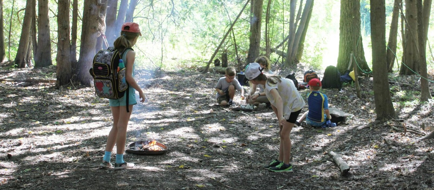 campers at Kortright Centre Outdoor Explorer camp