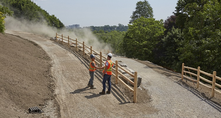 TRCA personnel work on construction project