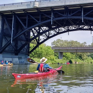 kayakers on Humber River