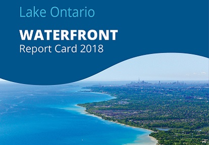 cover page of Lake Ontario Waterfront 2018 report card