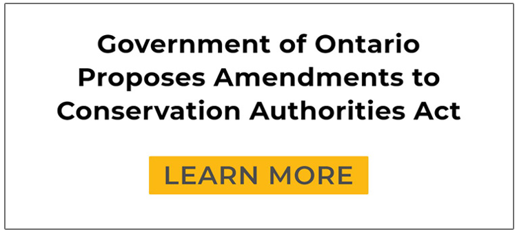 Government of Ontario proposes amendments to Conservation Authorities Act