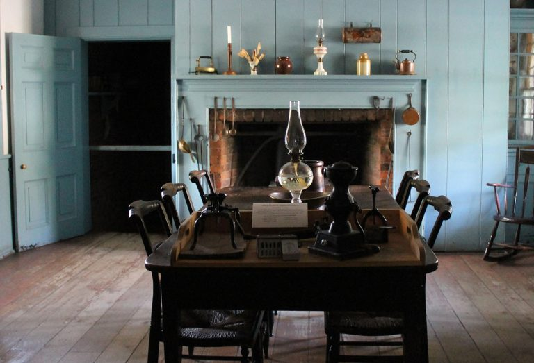 Dining room of pioneer home