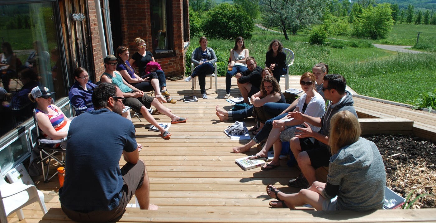 Young Conservation Professionals leadership program summer retreat at Albion Hills Field Centre