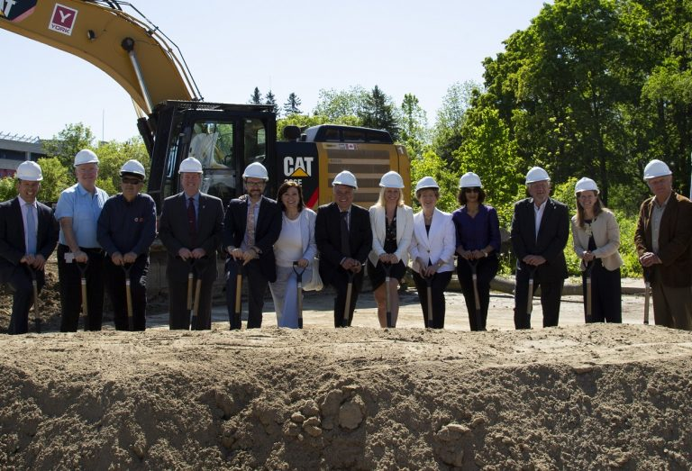 TRCA Board of Directors members at groundbreaking ceremony celebrate sustainable design of new administrative head office