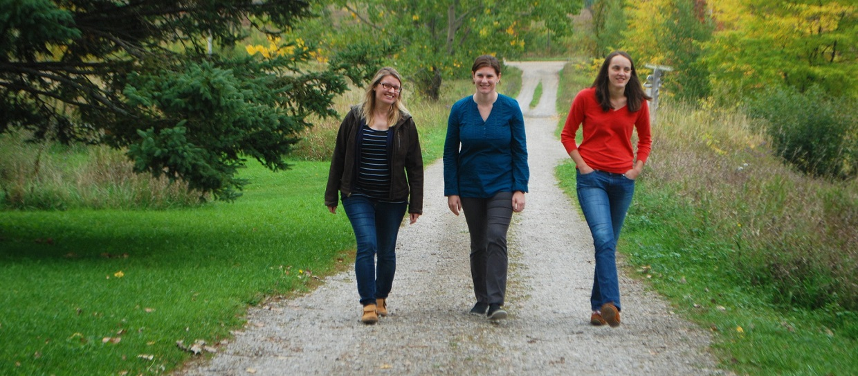 Young Conservation Professionals Leadership program participants walk trail at Albion Hills Field Centre