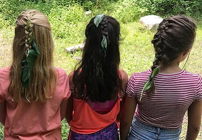 girls take part in Riversong nature camp