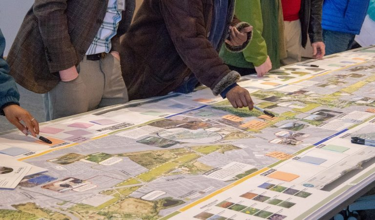 People review maps of The Meadoway
