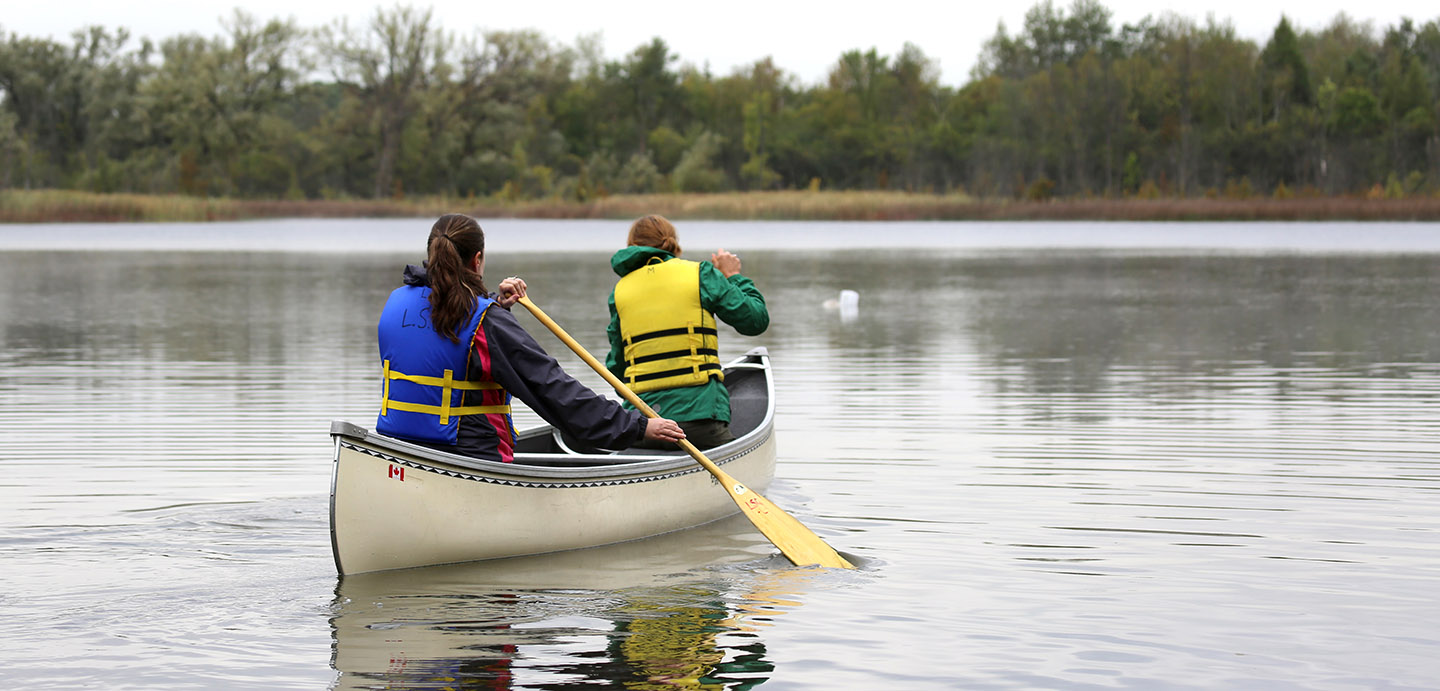 canoeing at Lake St George Field Centre