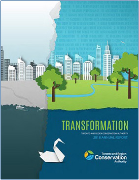 TRCA 2018 annual report cover page