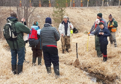Students learn how to assess headwater features