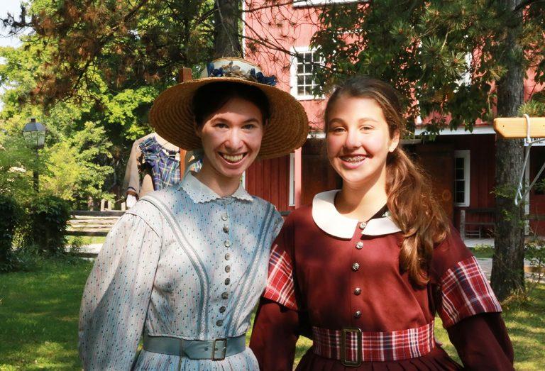 Students in costume at Black Creek Pioneer Village