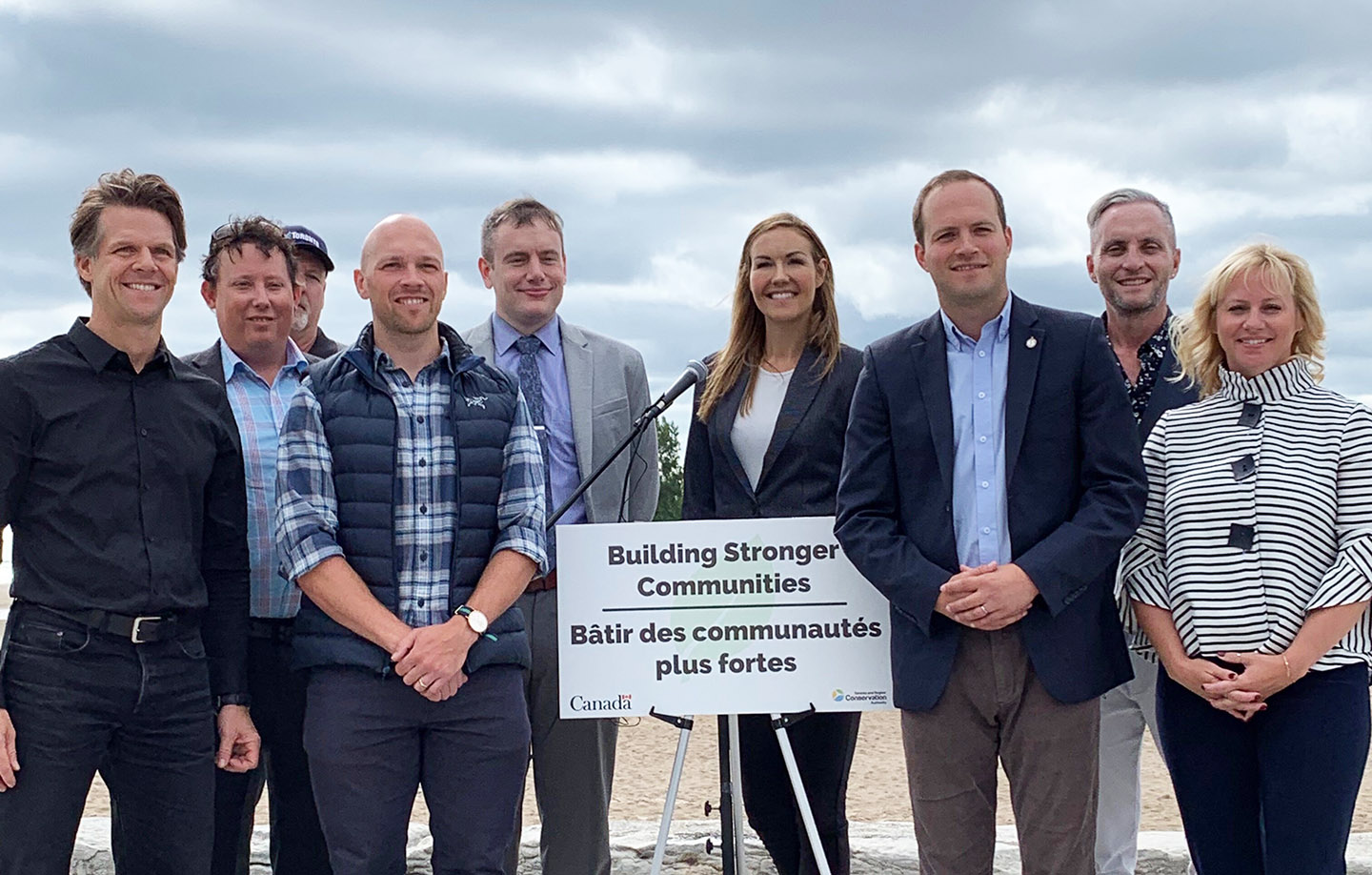 TRCA and Government of Canada representatives at Toronto waterfront erosion funding announcement