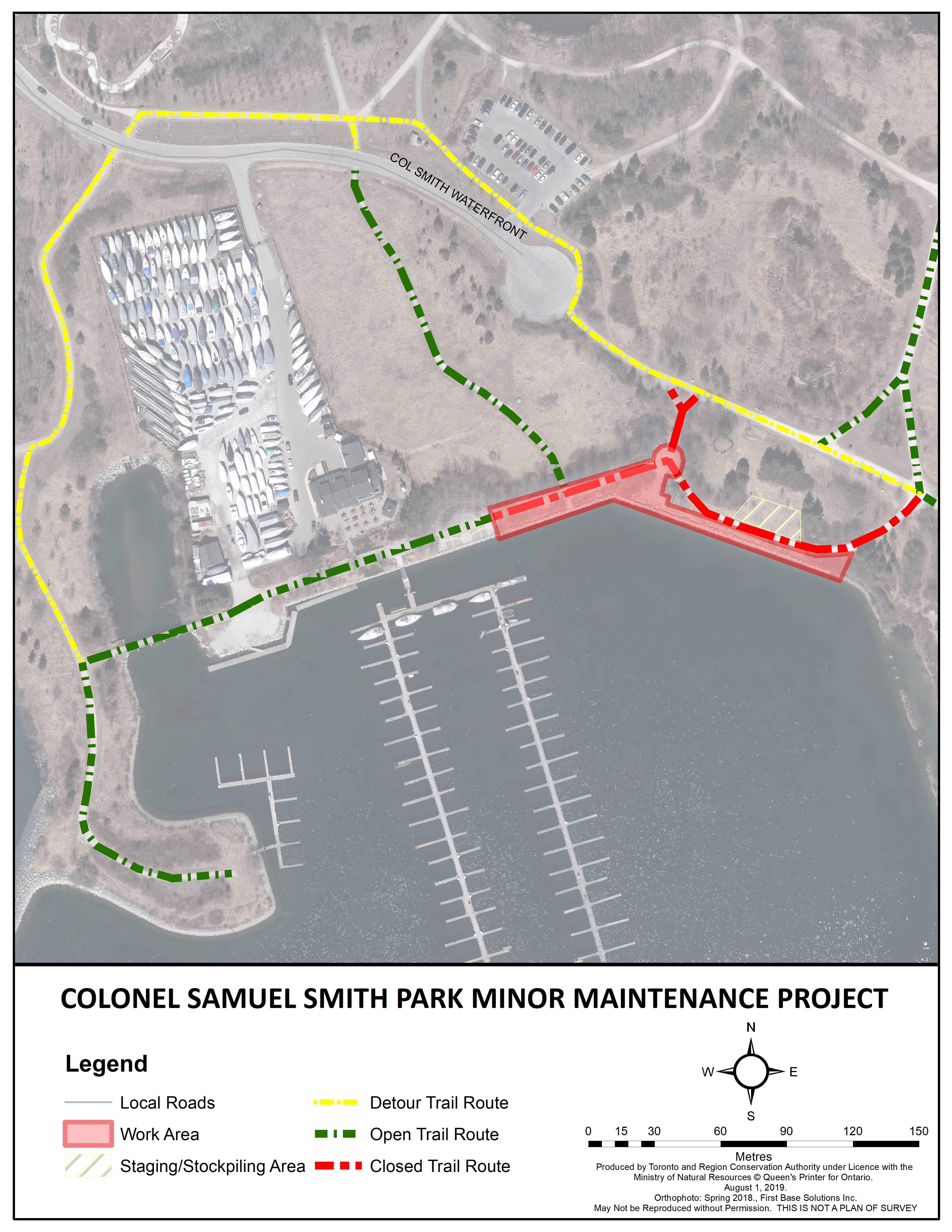 Construction details for Colonel Samuel Smith Park. Source: TRCA, 2019.