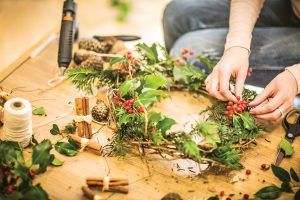 Holiday Wreath Making Workshop at Claremont @ Claremont Field Centre